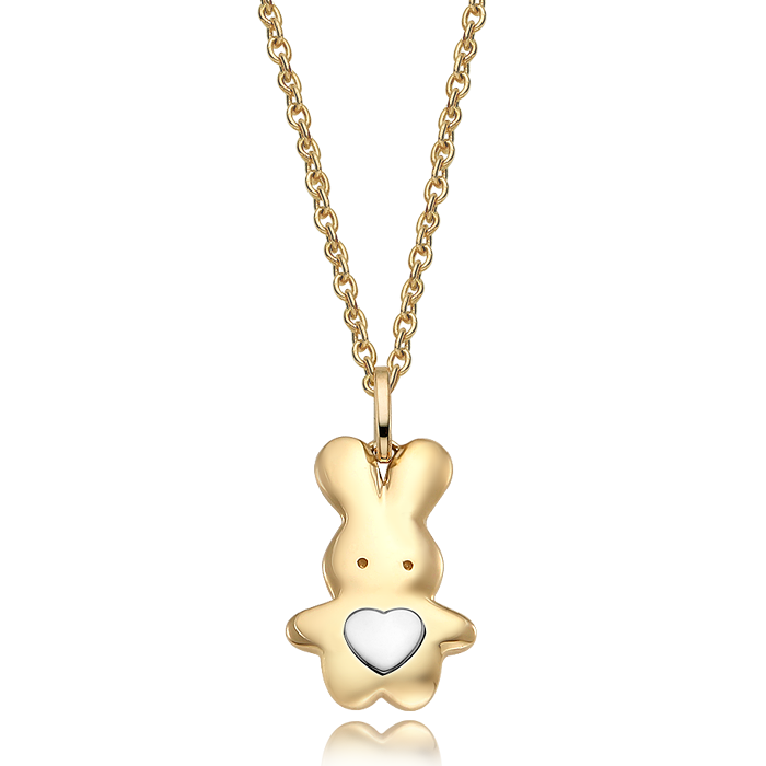 14K/18K Gold Oriental Zodiac Rabbit Necklace