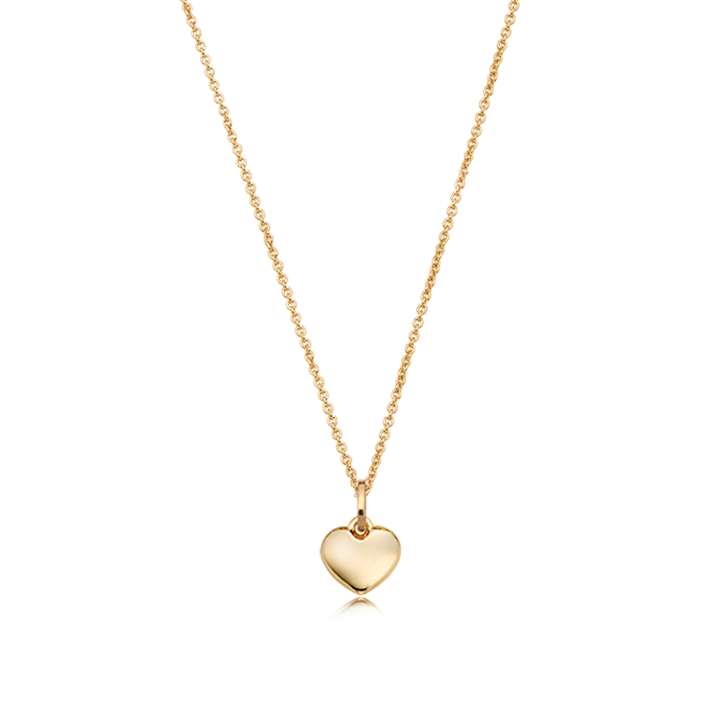 14K/18k Yellow Gold Mini Heart Necklace-Personalised Jewellery