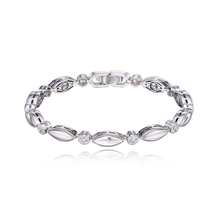 Silver Germanium Women Bracelet S98-17cm