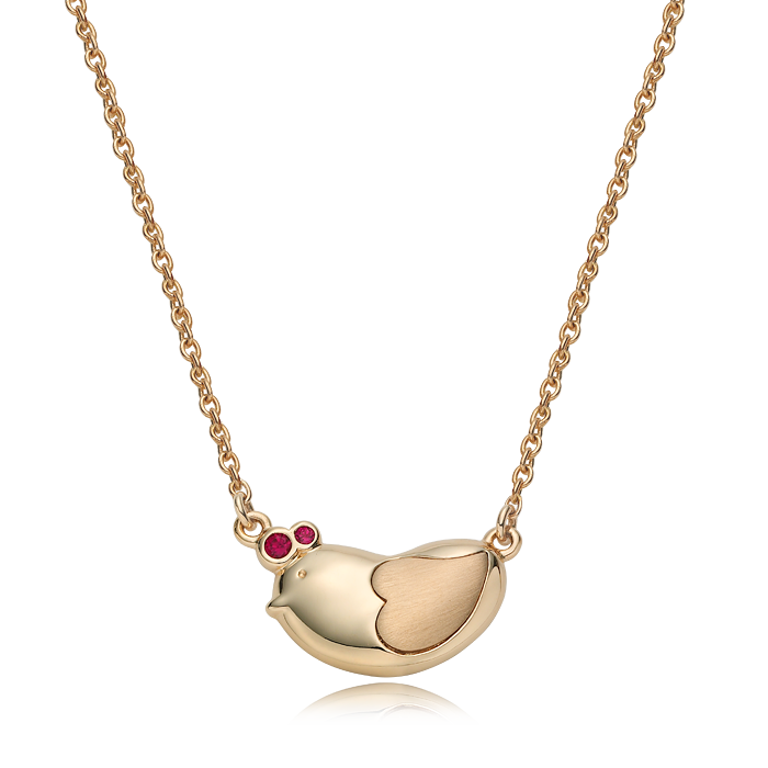 14K/18K Gold Oriental Zodiac Chicken Necklace