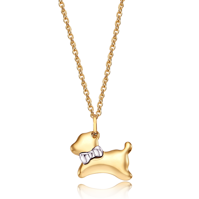 14K/18K Gold Oriental Zodiac Dog Necklace
