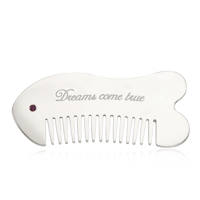Gua Sha Tool - Kaiu Lucky Fish  Personalized Silver Comb