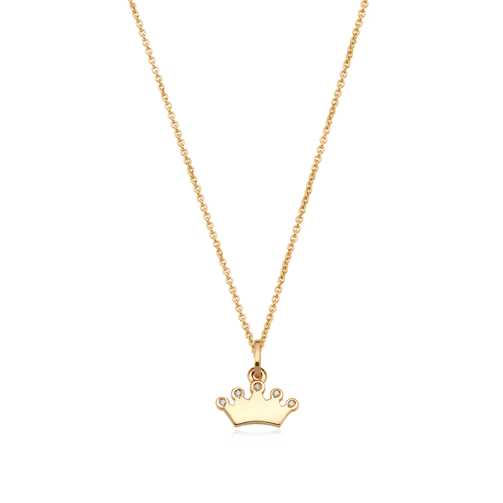 14K/18k Yellow Gold Mini Tiara Cubic Necklace-Personalised Jewellery