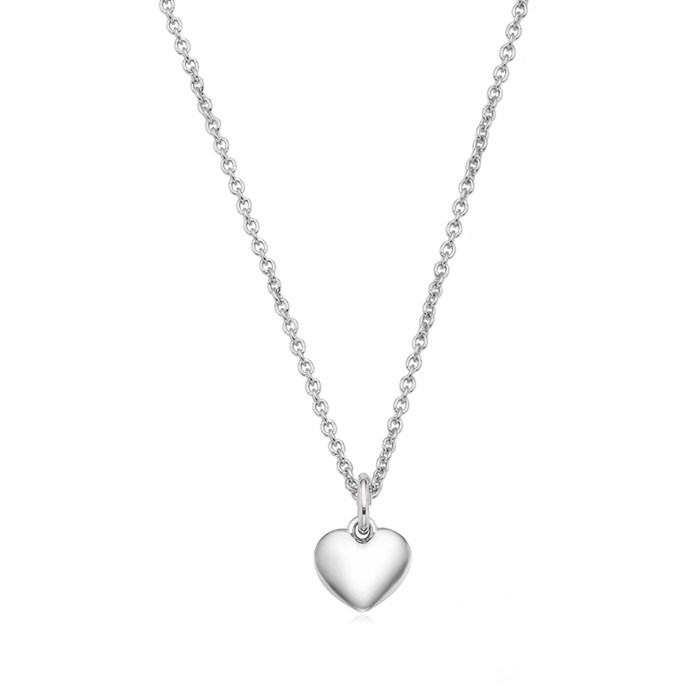 Sterling Silver  Mini Heart Friendship Necklace - Engraveable