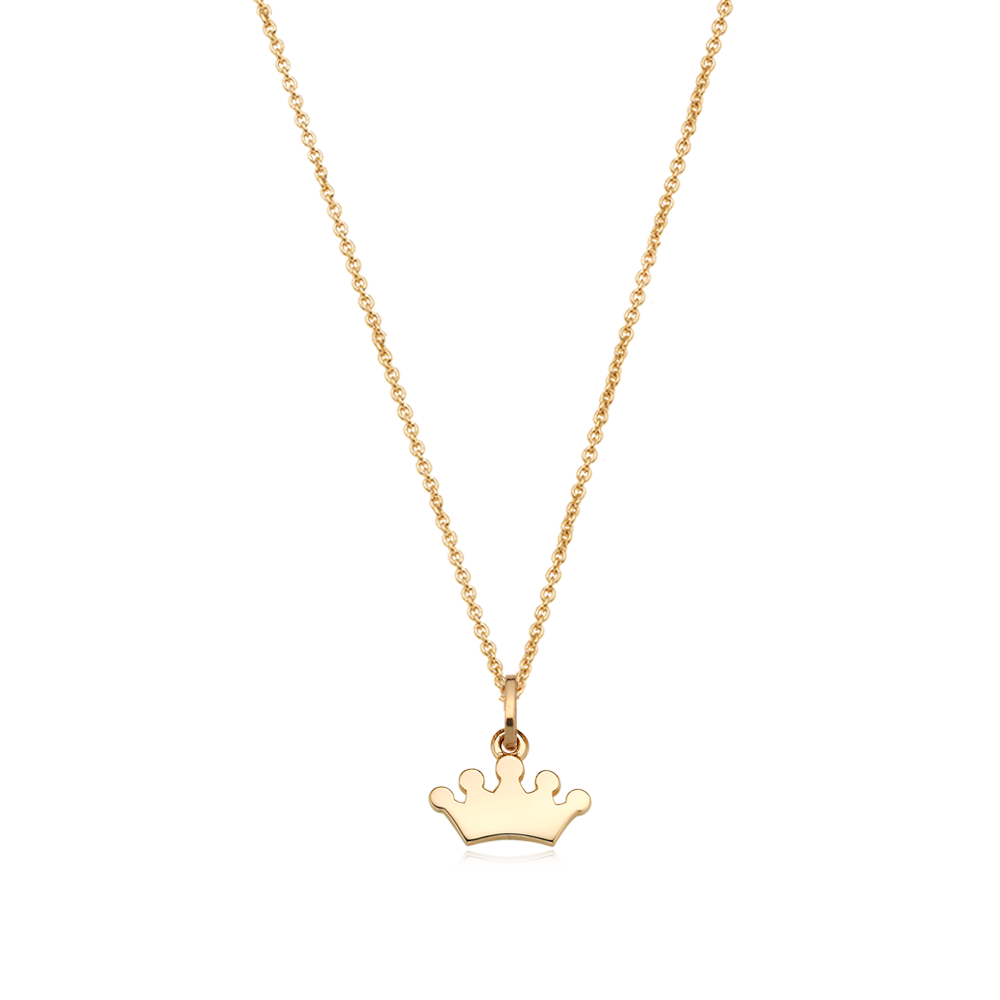 14K/18k Yellow Gold Mini Tiara Necklace-Personalised Jewellery