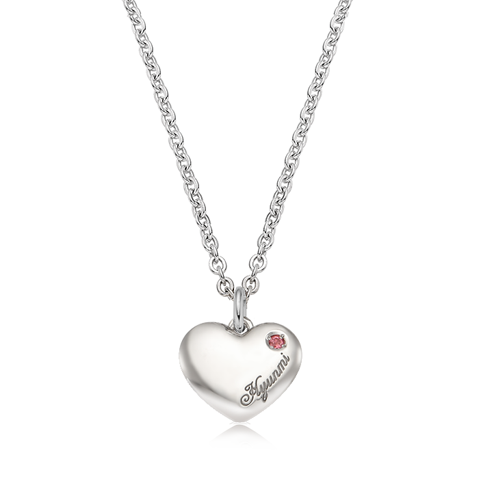 Kaiu Simple Heart Silver Necklace