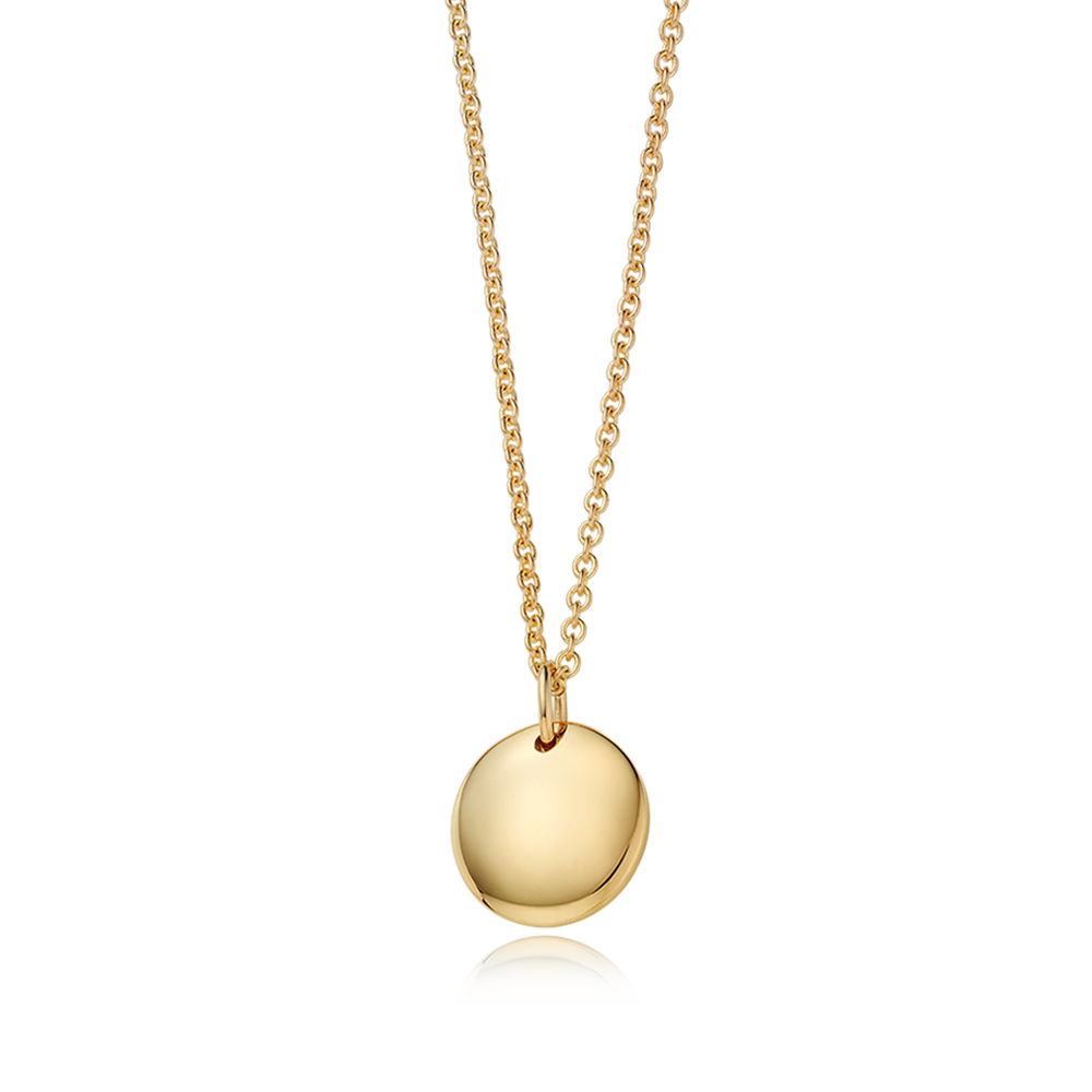 14K / 18K Gold Modern Shaped Round Necklace[Adult]