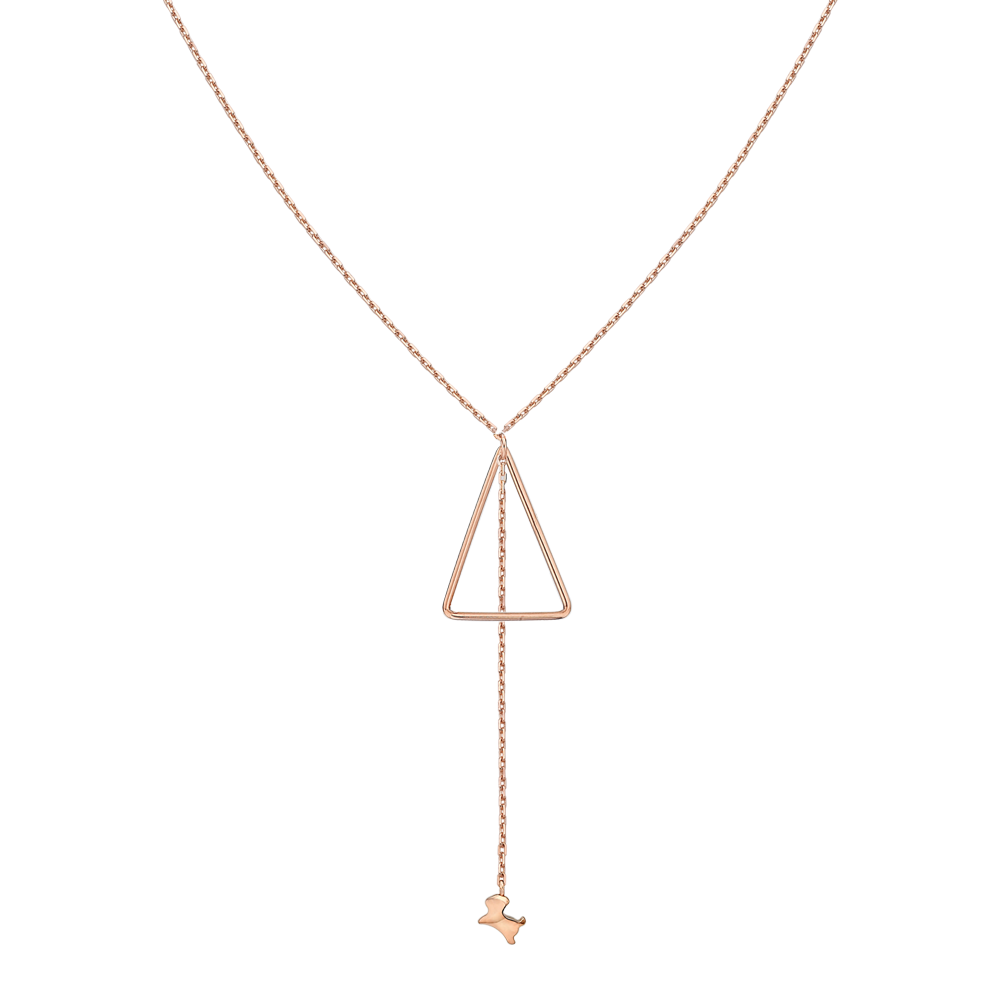 14K Rose Gold Elle Cayeu N1 Necklace No.11-Dog