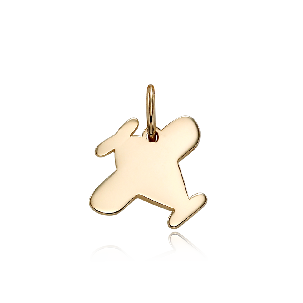 14k/18k Gold B339 Airplane Pendant