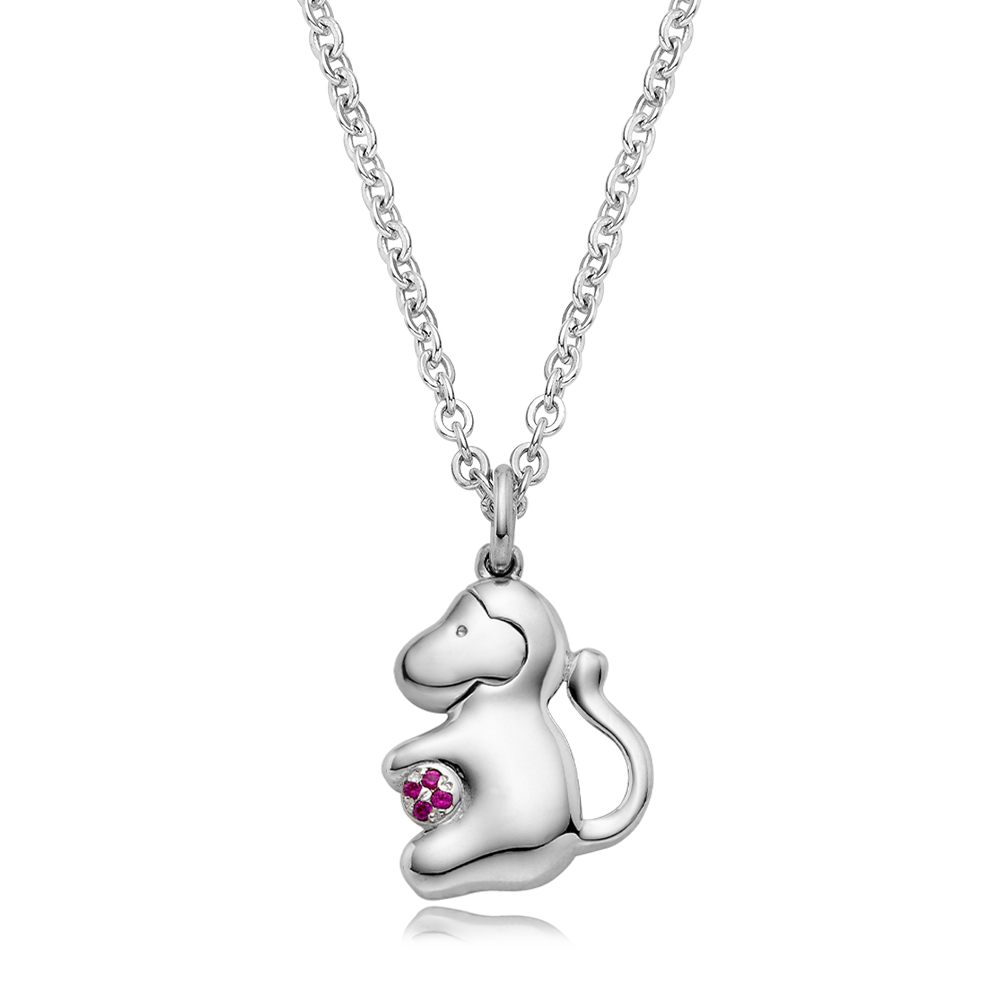 [Special plan item] Oriental Zodiac Monkey Baby Silver Necklace