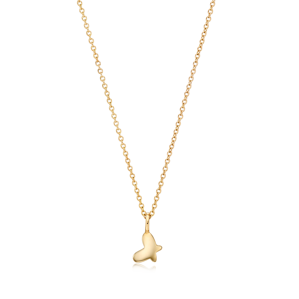 14K/18k Gold Kaiu Hope Necklace - Butterfly Necklace