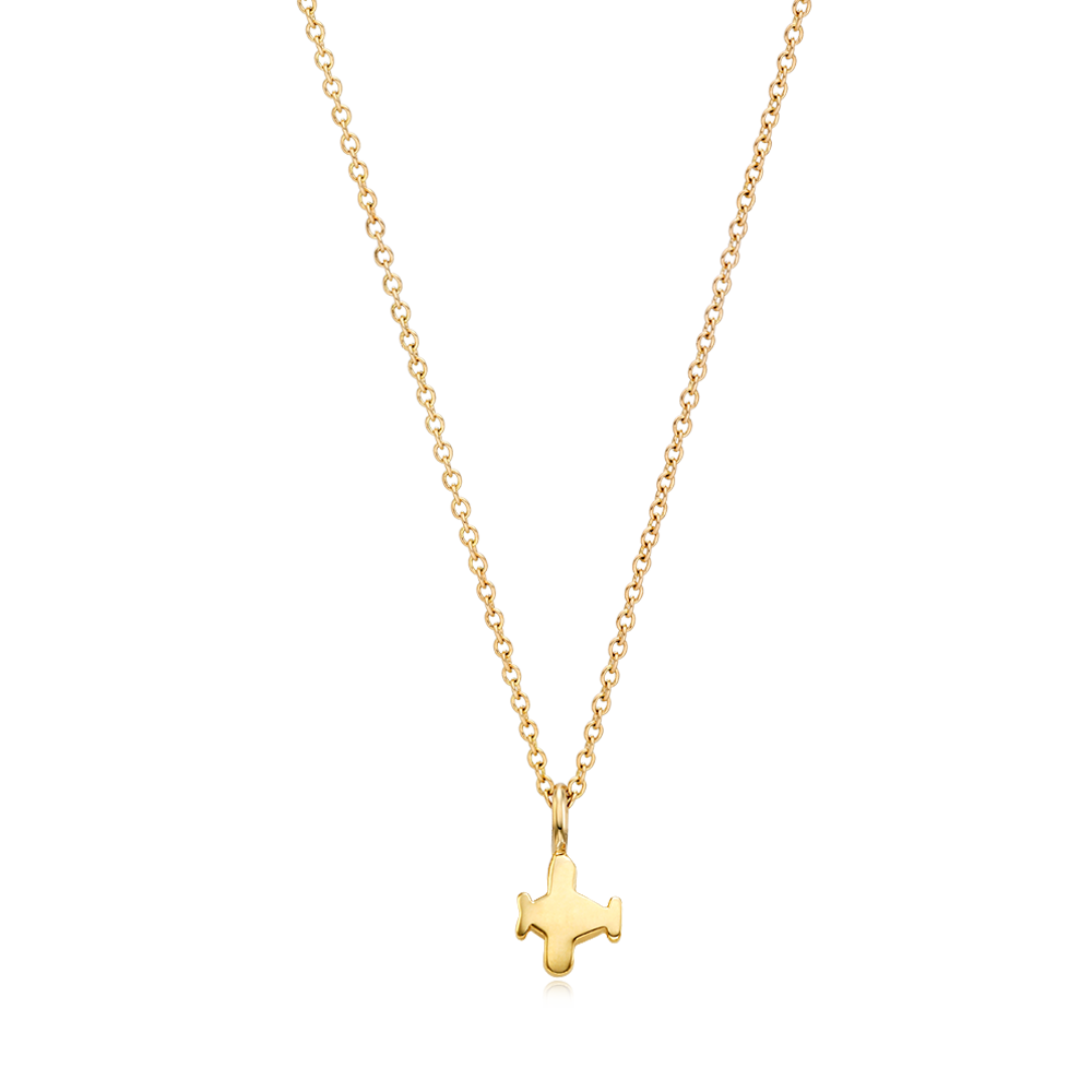 14K Gold Kaiu Hope Necklace - Airplane Necklace