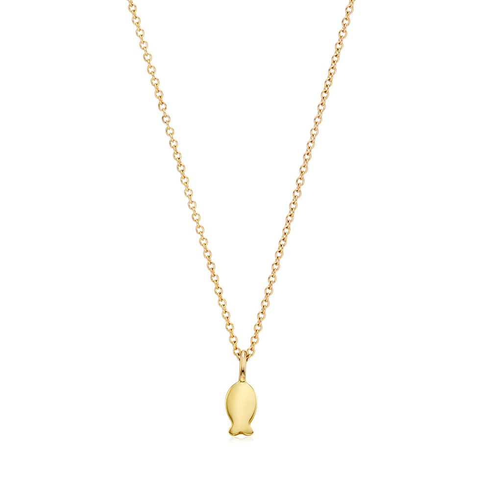14K Gold Kaiu Hope Necklace- Carp Necklace