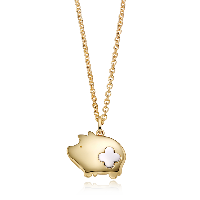 14K/18K Gold Oriental Zodiac Pig Necklace