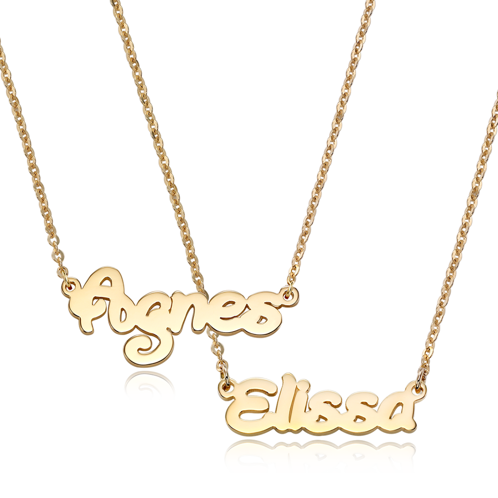 14K Gold Junior Name Necklace